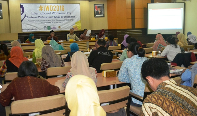 Diskusi Publik Hari Perempuan Internasional Problematika Pernikahan Anak di Indonesia, ft Genk