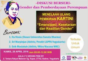 Poster diakusi hari Kartini, 28 April