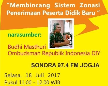 Banner talkshow 18 Juli 2017 Radio sonora FM