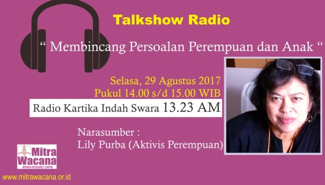 Banner talkshow radio KIS Selasa 29 Agustus 201