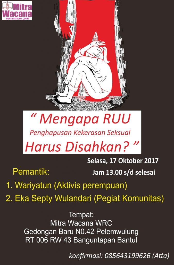 Poster diskusi RUU Penghapusan Kekerasan Seksual