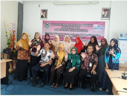 Dokumentasi pertemuan dengan dinas PPKB3A Banjarnegara
