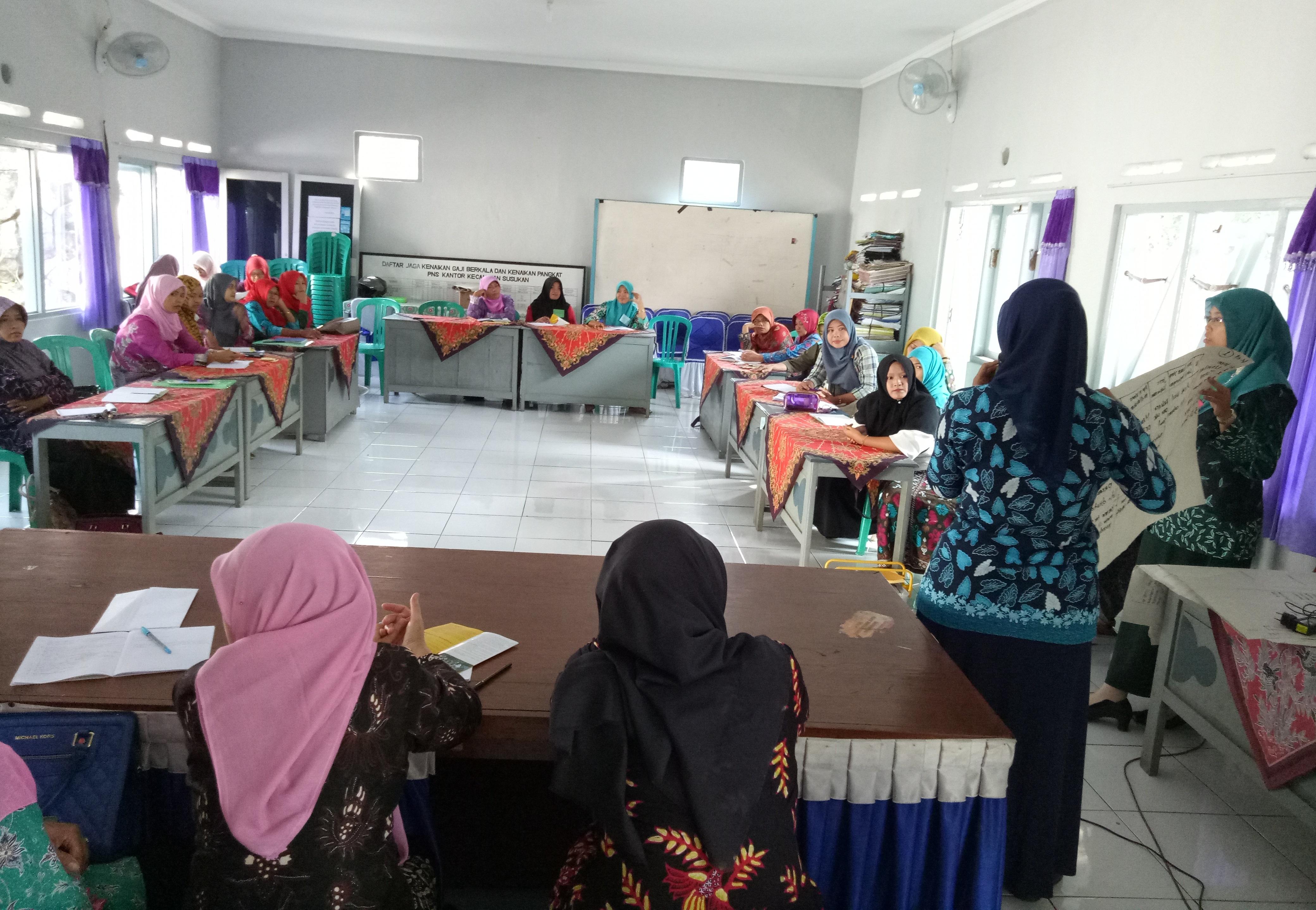 Suasana pelatihan P3A di Banjarnegara