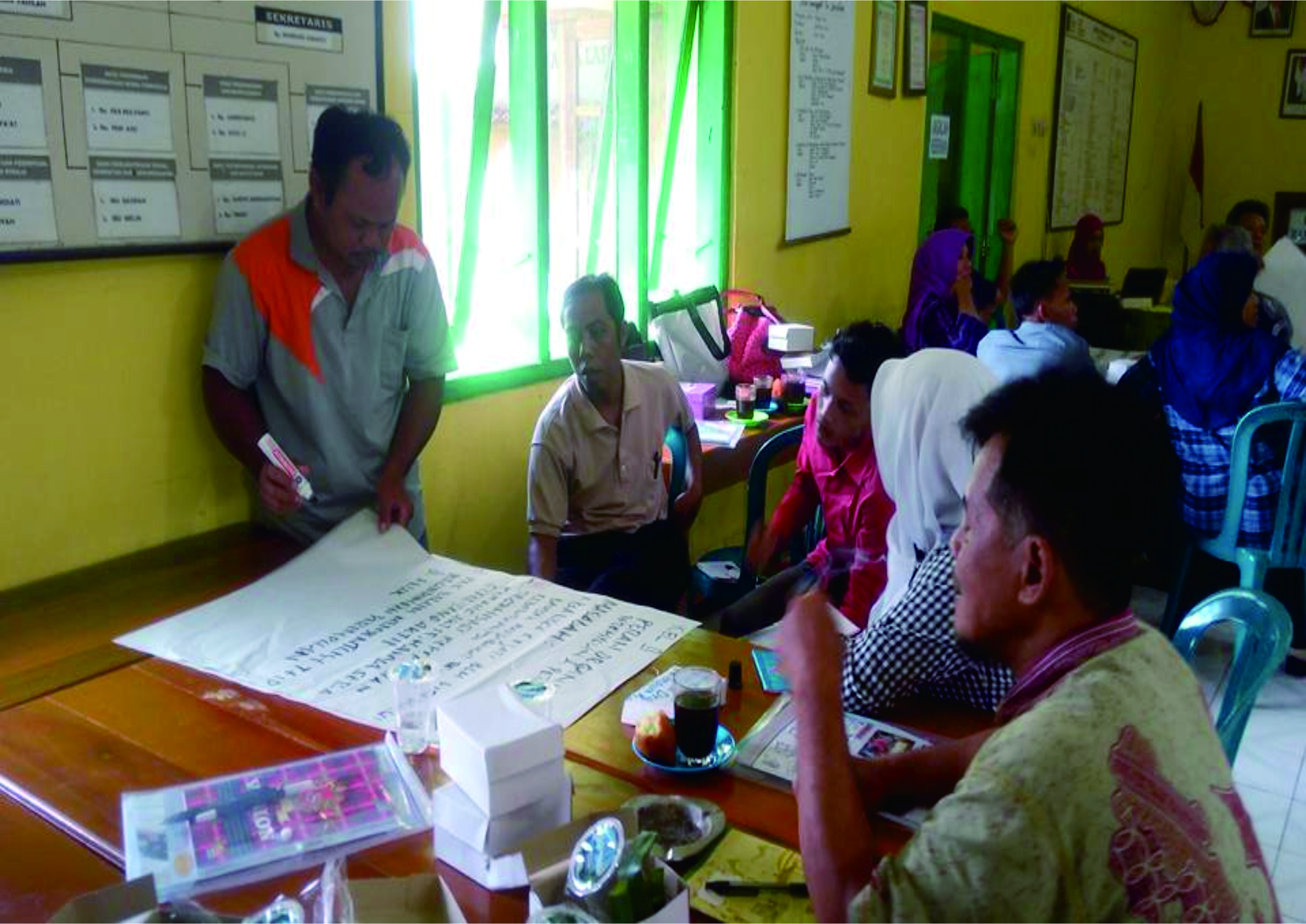 Dokumentasi pelatihan P3A dan pamong desa di Balaidesa Karangjati