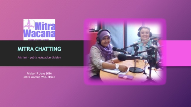 Mitra Chatting. Wawancara dengan Astriani