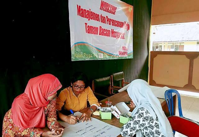 Workshop manajemen organisasi di Kecamatan Kokap. Foto oleh Wahyu T