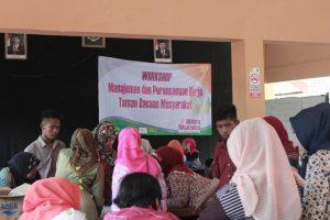 Pelatihan manajemen organisasi di kecamatan Kokap, Kabupaten Kulon Progo. Foto Wahyu T