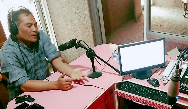 Narasumber Talkshow radio Kartika Indah Suara M Farid Cahyono. Foto:Tnt