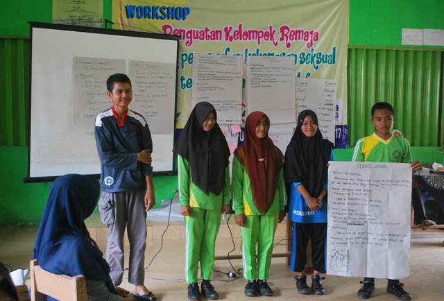 Dokumentasi pelatihan kespro remaja di Punggelan