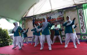 Suasana senam P3A Women Care Karangjati Banjarnegara