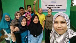 Tim pembuat film pencegahan KSTA Karangjati Banjarnegara